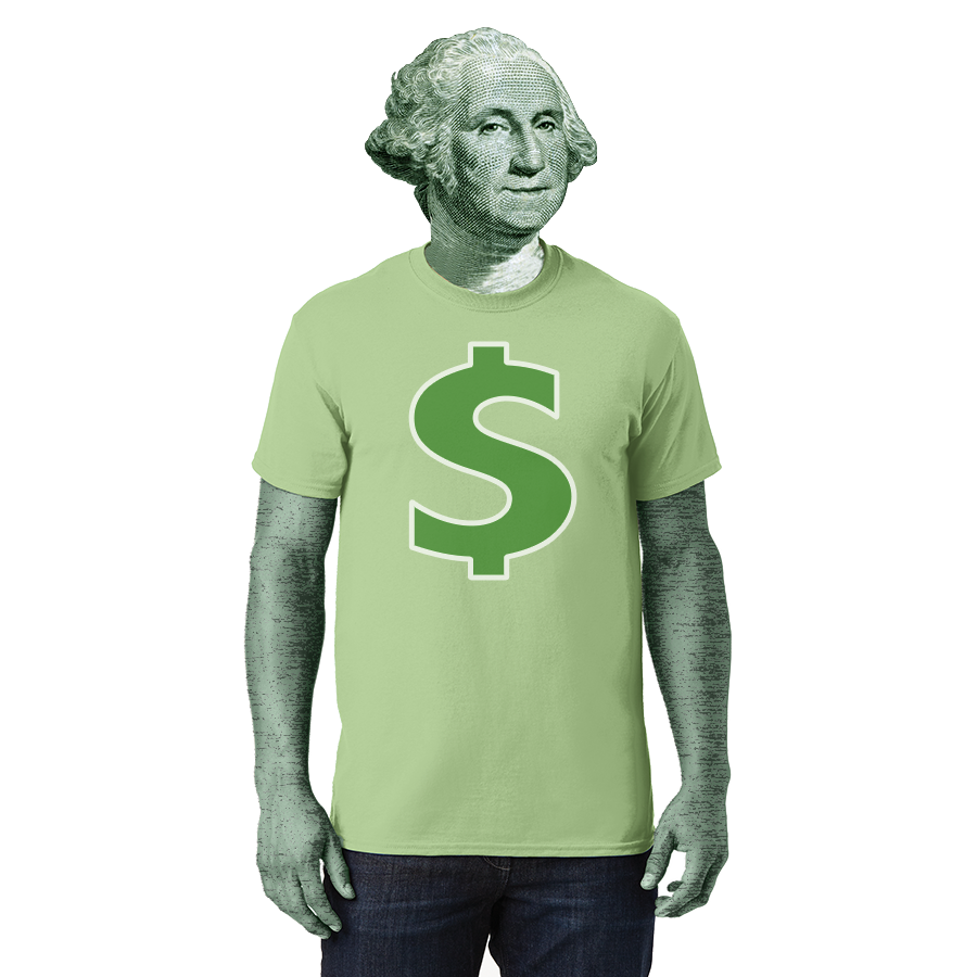 George Washington in a t shirt